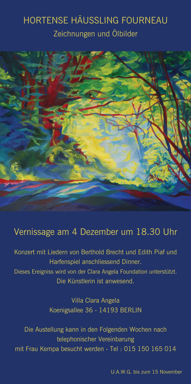 Vernissage am 4 Dezember um 18:30 Uhr